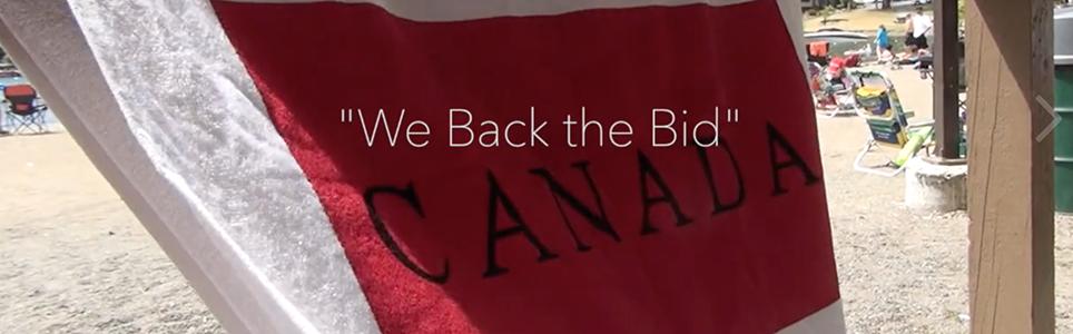 World Ringette Championships We Back the Bid Banner