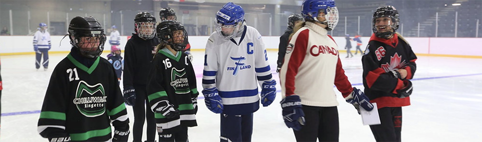 Chilliwack players at the 2019 World Ringette Championships