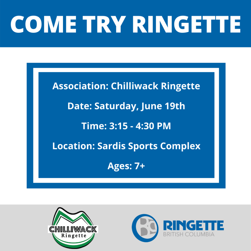 Come try ringette in Chilliwack on June 19, 2021