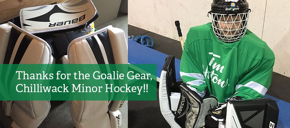 Chilliwack Minor Hockey donates gear to Chilliwack Ringette - thank you!